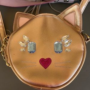 Cute sparkly cat purse